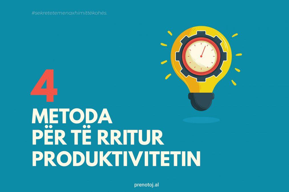metoda per te rritur produktivitetin menaxhimi i kohes